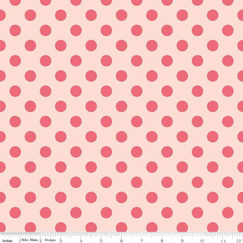 In Bloom Dot Pink - Riley Blake Designs - Quilting Cotton Fabric