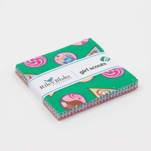 "Girl Scouts Charm Pack 5"" Stacker Bundle - Riley Blake Designs - 42 piece Precut Pre cut - Scouting - Quilting Cotton Fabric"