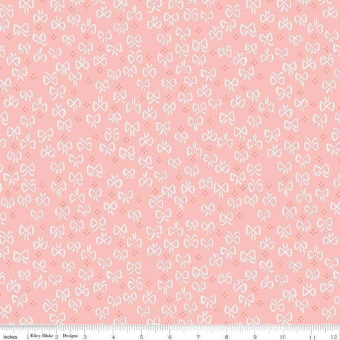 SALE Little Red in the Woods Bows Pink - Riley Blake Designs - Bows Small Dot Clusters -  Quilting Cotton Fabric - choose your cut