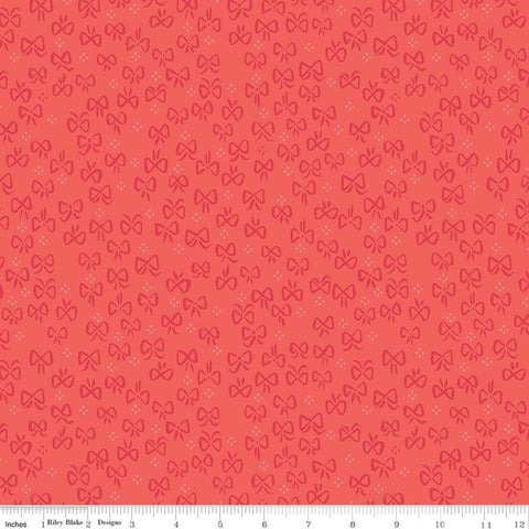 SALE Little Red in the Woods Bows Red - Riley Blake Designs - Bows Small Dot Clusters -  Quilting Cotton Fabric - choose your cut