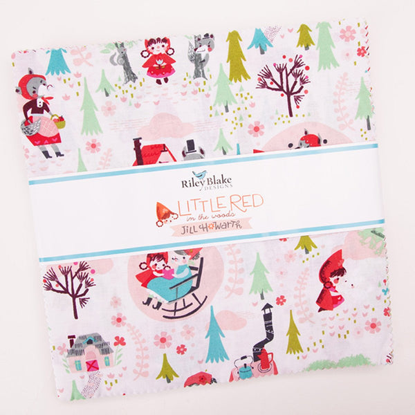 "Little Red in the Woods Layer Cake 10"" Stacker Bundle - Riley Blake Designs - 42 piece Precut Pre cut - Quilting Cotton Fabric"