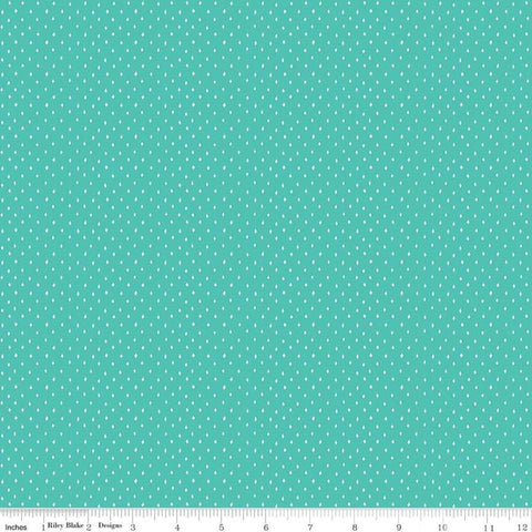 Varsity Diamonds Aqua - Riley Blake Designs - Blue Sports Volleyball Baseball Hockey  - Quilting Cotton Fabric - end of bolt pieces