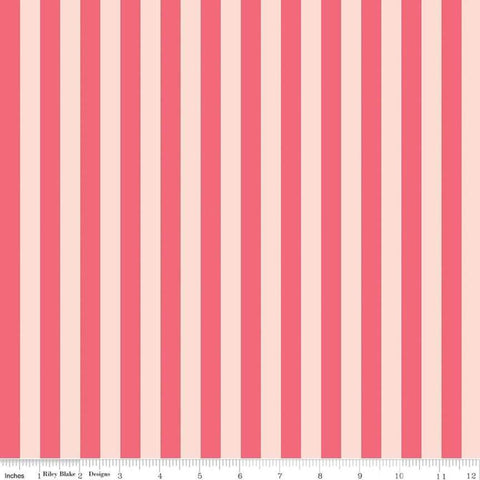In Bloom Stripe Pink - Riley Blake Designs - Quilting Cotton Fabric