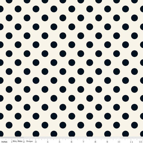 In Bloom Dot Cream - Riley Blake Designs - Quilting Cotton Fabric