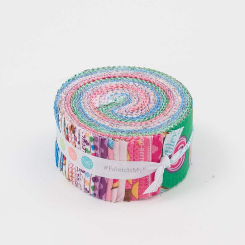 Girl Scouts 2.5-Inch Rolie Polie Jelly Roll 40 pieces Riley Blake Designs - Precut Bundle - Scouting - Quilting Cotton Fabric