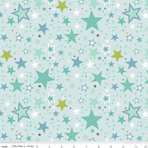 SALE Sweet Baby Boy Stars Light Blue - Riley Blake Designs - Quilting Cotton Fabric - choose your cut