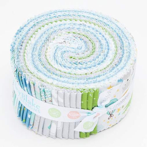 SALE Sweet Baby Boy 2.5-Inch Rolie Polie Jelly Roll 40 pieces Riley Blake Designs - Precut Bundle - Quilting Cotton Fabric