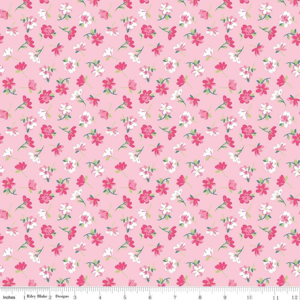 Flowers Novelty Pink by Riley Blake Designs - Easter Floral - Quilting Cotton Fabric