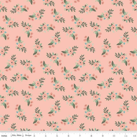 Bliss Floral Blush - Riley Blake Designs - Flowers Pink -  Quilting Cotton Fabric