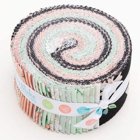 Bliss 2.5 Inch Rolie Polie Jelly Roll 40 pieces Riley Blake Designs - Precut Pre cut Bundle - SPARKLE - Quilting Cotton Fabric