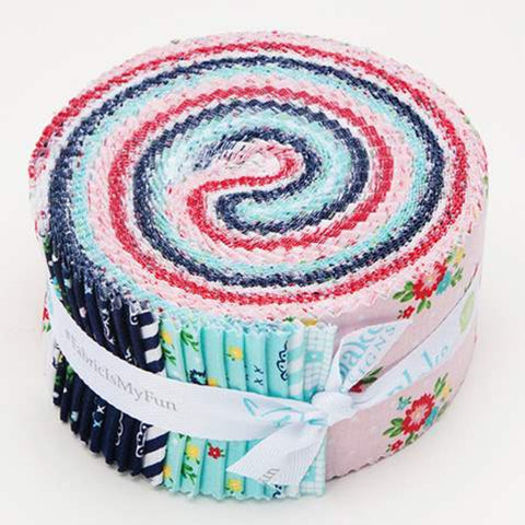 SALE Simple Goodness 2.5-Inch Rolie Polie Jelly Roll 40 pieces Riley Blake Designs - Precut Bundle - Quilting Cotton Fabric