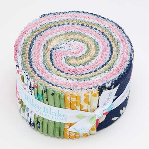 In the Meadow 2.5-Inch Rolie Polie Jelly Roll 40 pieces Riley Blake Designs - Precut Bundle - Quilting Cotton Fabric