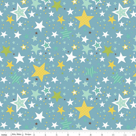SALE Sweet Baby Boy Stars Blue - Riley Blake Designs - Quilting Cotton Fabric - choose your cut