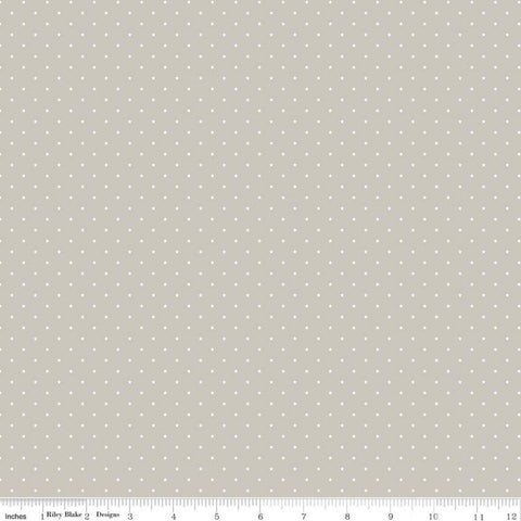 Sweet Baby Boy Mini Stars Gray - Riley Blake Designs - White Stars - Quilting Cotton Fabric - choose your cut