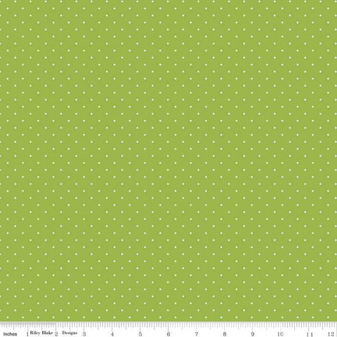 SALE Sweet Baby Boy Mini Stars Green - Riley Blake Designs - White Stars - Quilting Cotton Fabric - choose your cut