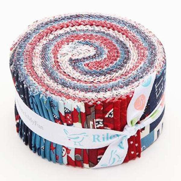 Celebrate America 2.5 Inch Rolie Polie Jelly Roll 40 pieces Riley Blake Designs - Precut Pre cut Bundle - Quilting Cotton Fabric