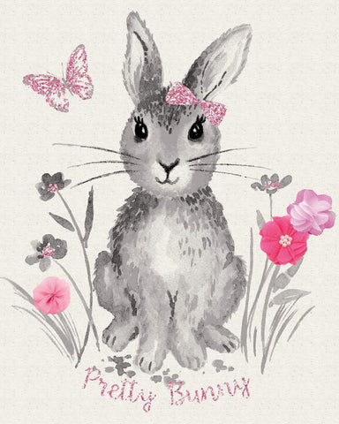 Pretty Bunny Novelty Panel Off White by Riley Blake Designs - Easter - Quilting Cotton Fabric