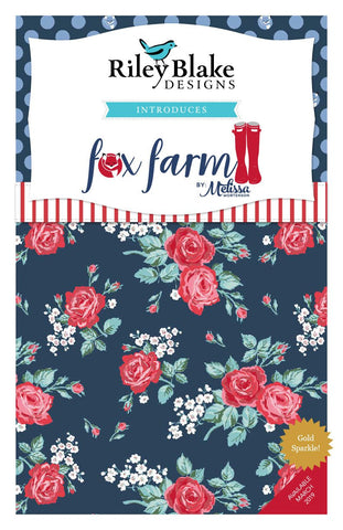 "Fox Farm Charm Pack 5"" Stacker Bundle - Riley Blake Designs - 42 piece Precut Pre cut - SPARKLE - Quilting Cotton Fabric"