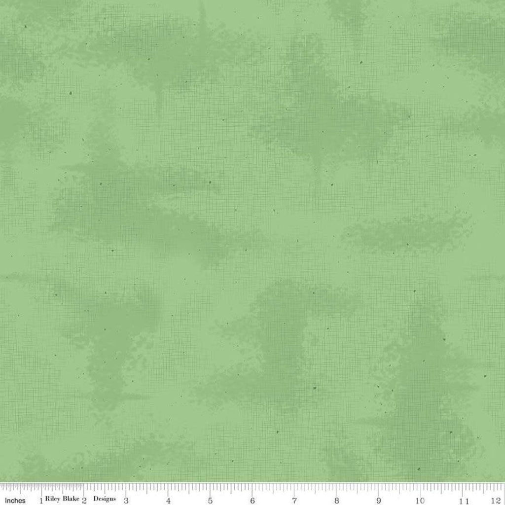 SALE Shabby Green by Riley Blake Designs - Crosshatched Lines Specks Shaded Tone on Tone - Quilting Cotton Fabric