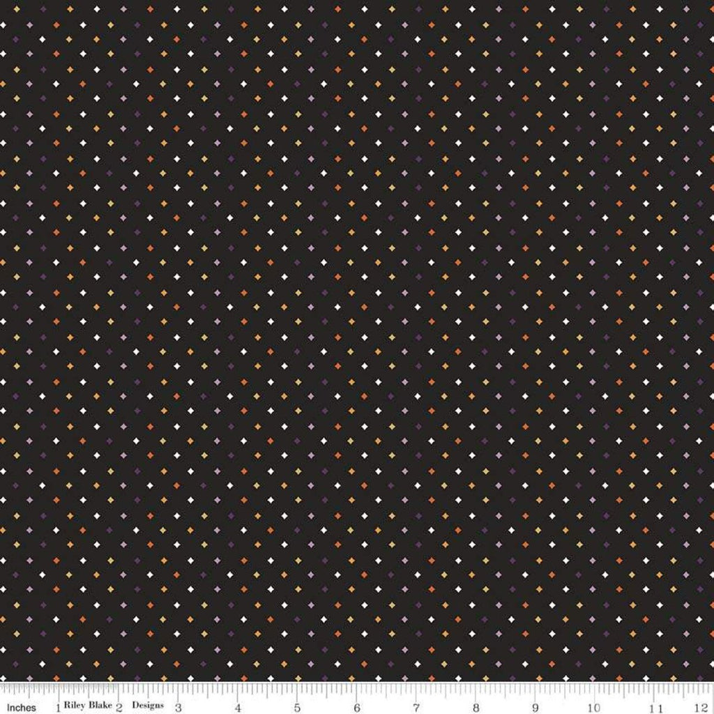 SALE Fab-boo-lous Diamonds Black - Riley Blake Designs - Halloween Geometric - Quilting Cotton Fabric