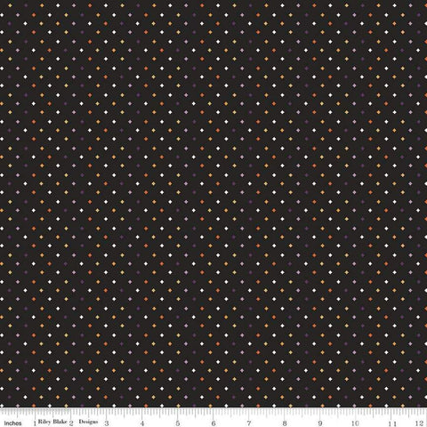 Fab-boo-lous Diamonds Black - Riley Blake Designs - Halloween Geometric - Quilting Cotton Fabric