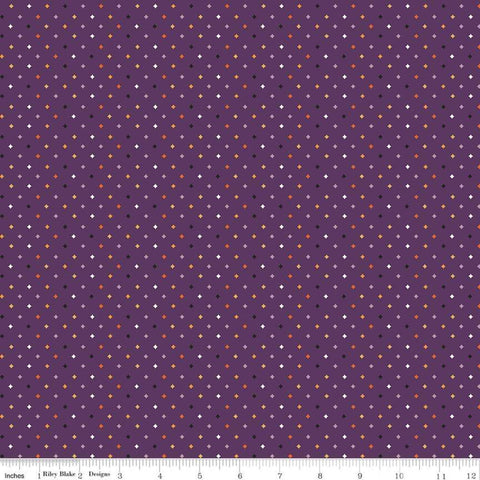 Fab-boo-lous Diamonds Purple - Riley Blake Designs - Halloween Geometric - Quilting Cotton Fabric - end of bolt pieces