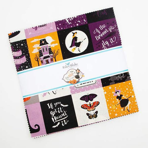 "SALE Fab-boo-lous Layer Cake 10"" Stacker Bundle - Riley Blake Designs - 42 piece Precut Pre cut - Halloween - Quilting Cotton Fabric"
