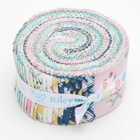 SALE I'd Rather Be Glamping 2.5-Inch Rolie Polie Jelly Roll 40 pieces Riley Blake Designs - Precut Bundle - Camping - Quilting Cotton Fabric