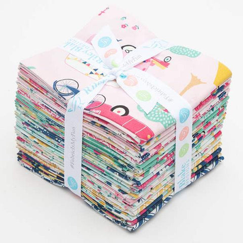 SALE I'd Rather Be Glamping Fat Quarter Bundle 21 pieces-Riley Blake Designs-Pre cut Precut-Camping-Quilting Cotton Fabric-Free US Shipping