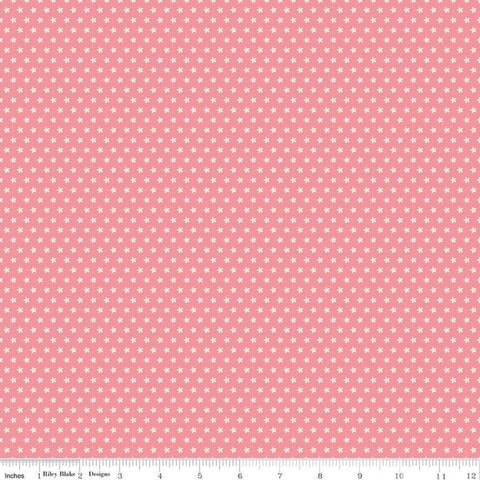 Sweet Baby Girl Daisies Dark Pink - Riley Blake Designs - White Floral Flowers on Pink - Quilting Cotton Fabric - choose your cut