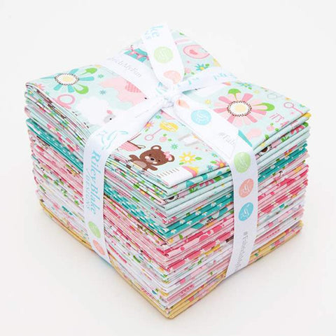SALE Sweet Baby Girl Fat Quarter Bundle 21 pieces - Riley Blake Designs - Pre cut Precut - Quilting Cotton Fabric - Free US Shipping