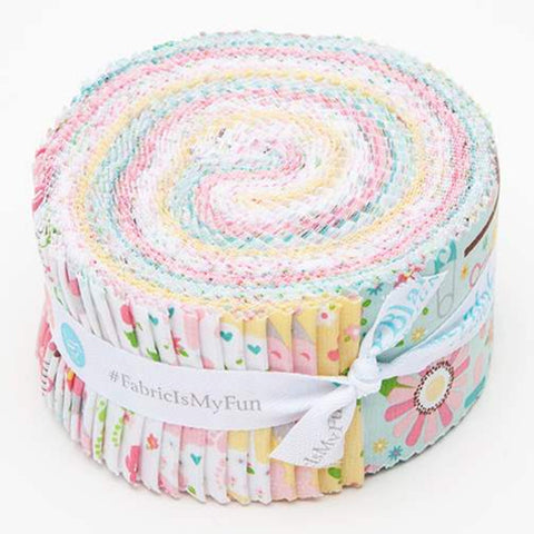Sweet Baby Girl 2.5-Inch Rolie Polie Jelly Roll 40 pieces Riley Blake Designs - Precut Bundle - Quilting Cotton Fabric