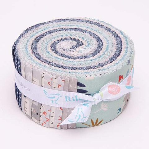 SALE Joey 2.5-Inch Rolie Polie Jelly Roll 40 pieces Riley Blake Designs - Precut Bundle - Koalas Sloths Baby - Quilting Cotton Fabric