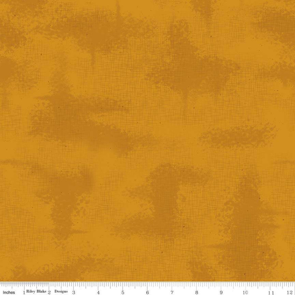 SALE Shabby Butterscotch by Riley Blake Designs - Gold Crosshatch Lines Specks Shaded Tone on Tone - Quilting Cotton Fabric--choose your cut