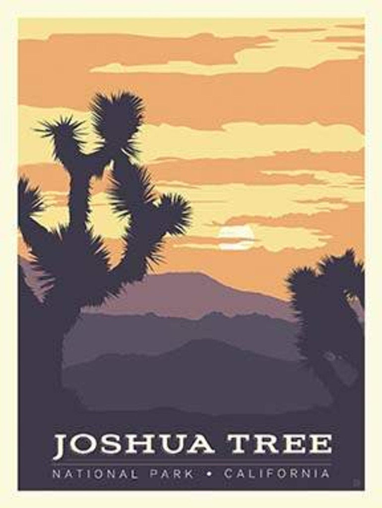 National Parks Poster Panel Joshua Tree by Riley Blake Designs - Outdoors Recreation California - Quilting Cotton Fabric