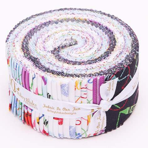SALE I Dream In Color Collection 2.5-Inch Rolie Polie Jelly Roll 40 pieces Riley Blake Designs - Precut Bundle - Quilting Cotton Fabric