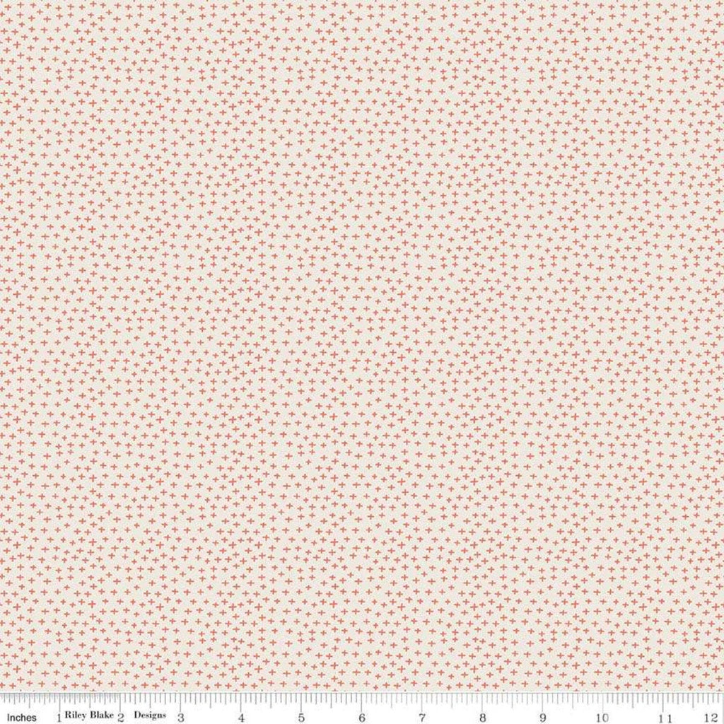 Joey Criss-Cross Cream - Riley Blake Designs - Baby Australia Plus Signs - Quilting Cotton Fabric