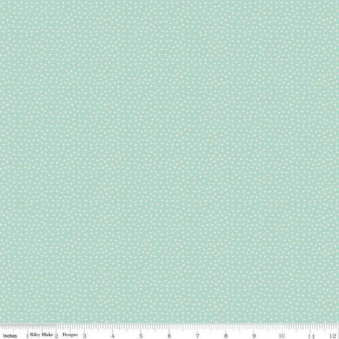 Joey Criss-Cross Mint - Riley Blake Designs - Baby Australia Plus Signs Green - Quilting Cotton Fabric - choose your cut