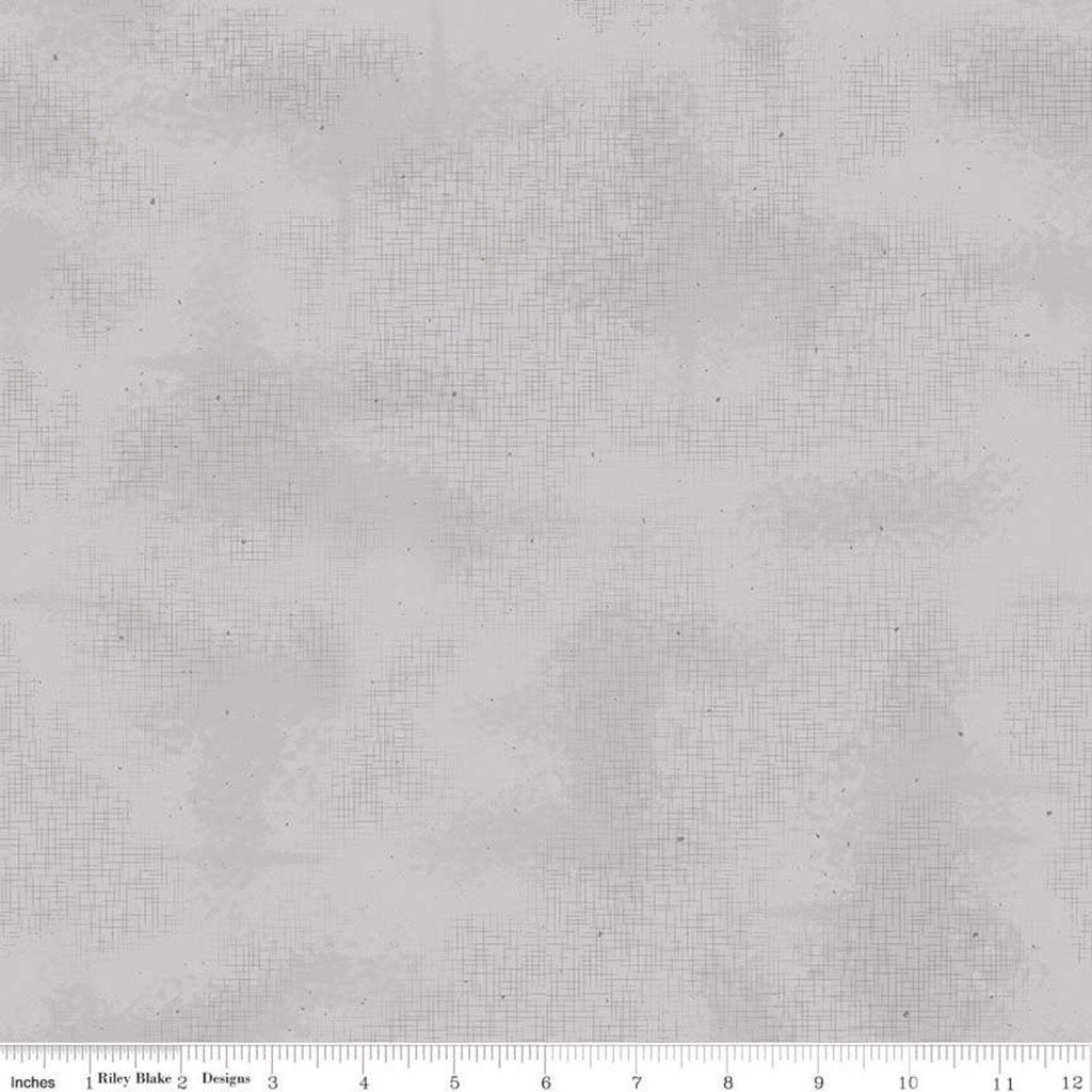 Shabby Gray by Riley Blake Designs - Crosshatched Lines Specks Shaded Tone on Tone - Quilting Cotton Fabric