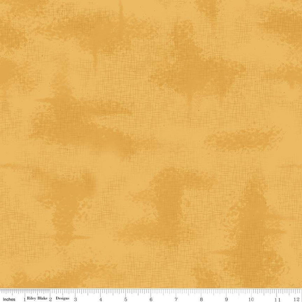 SALE Shabby Honey by Riley Blake Designs - Gold Crosshatched Lines Specks Shaded Tone on Tone - Quilting Cotton Fabric