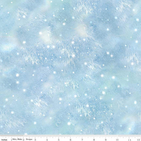 SALE Christmas Memories Snow Flurry Light Blue - Riley Blake Designs - Snowflakes Winter Flakes  - Quilting Cotton Fabric