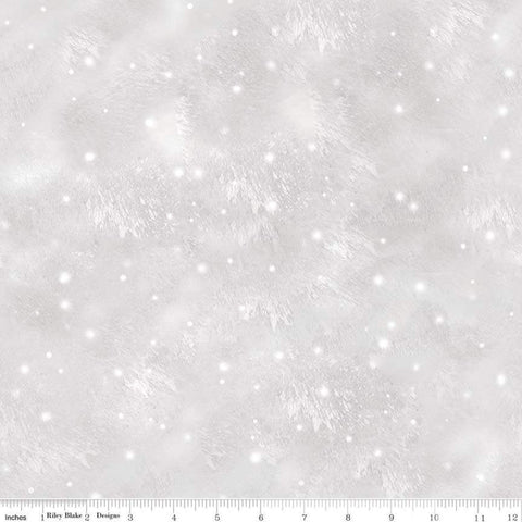 Christmas Memories Snow Flurry Gray - Riley Blake Designs - Snowflakes Winter Flakes  - Quilting Cotton Fabric