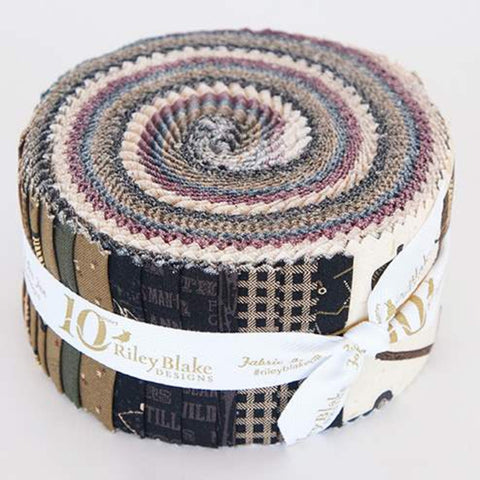 Lumberjack Aaron 2.5 Inch Rolie Polie Jelly Roll 40 pieces Riley Blake Designs - Precut Pre cut Bundle - Quilting Cotton Fabric