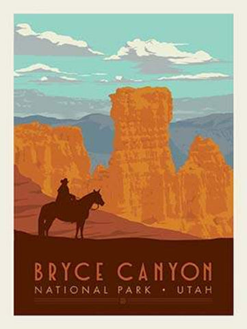 SALE National Parks Poster Panel Bryce Canyon by Riley Blake Designs - Outdoors Recreation Utah - Quilting Cotton Fabric