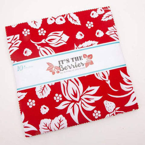 "It's the Berries Layer Cake 10"" Stacker Bundle - Riley Blake Designs - 42 piece Precut Pre cut - Quilting Cotton Fabric"