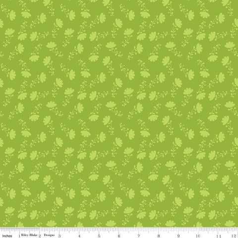 Lucy's Garden Tonal Green - Riley Blake Designs - Tone on Tone Flowers Floral - Quilting Cotton Fabric