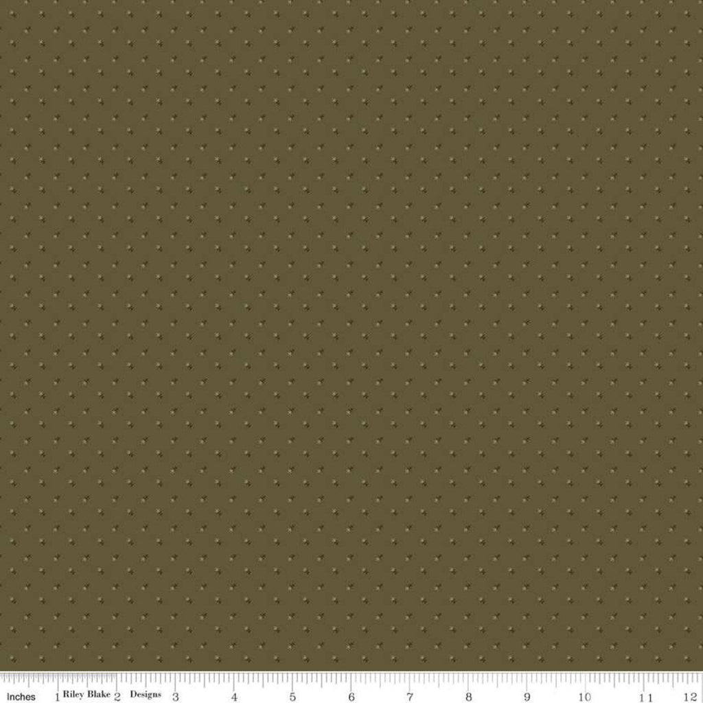 Lumberjack Aaron Arrows Green - Riley Blake Designs - Logging Outdoors - Quilting Cotton Fabric