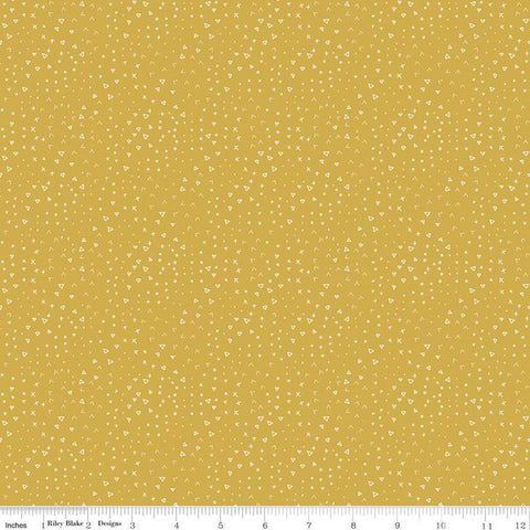 Fossil Rim 2 Terrain Yellow - Riley Blake Designs - Juvenile Dinosaurs Cream Triangles Circles Chevron -  Quilting Cotton Fabric