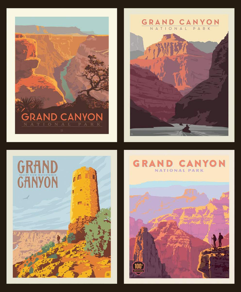 SALE National Parks Pillow Panel Grand Canyon by Riley Blake Designs - Outdoors Recreation Arizona - Quilting Cotton Fabric