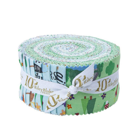 Girl Scout Camp Life 2.5-Inch Rolie Polie Jelly Roll 40 pieces Riley Blake Designs - Precut Bundle - Scouting - Quilting Cotton Fabric